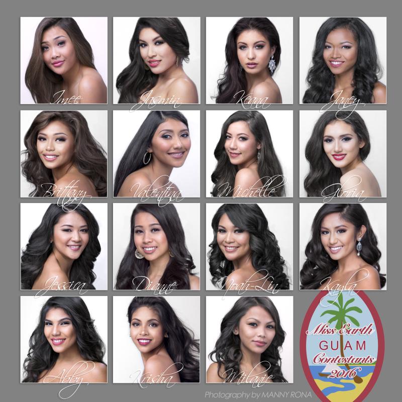 Miss Earth Guam 2016 Contestants.