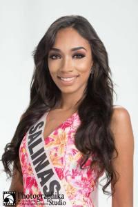 Salinas is a contestant of Miss Mundo de Puerto Rico 2016