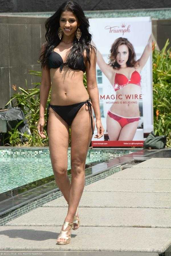 Sanjana GL in Bikini Femina Miss India 2016