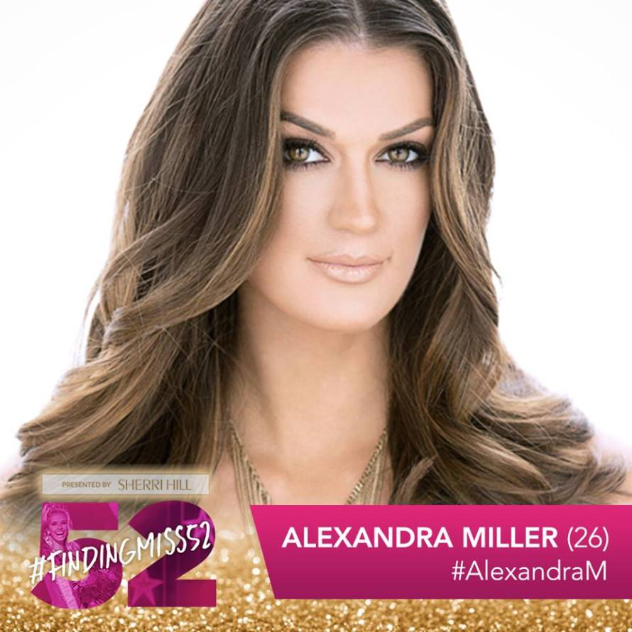 Alexandra Miller is a top 10 finalist at this year's finding Miss 52