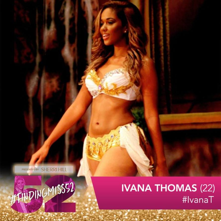 Ivana Thomas is a top 10 finalist at this year's finding Miss 52