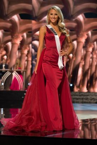 Sydney Halper, Miss Idaho USA competes during the evening gown competition at Miss USA 2016 preliminary show