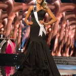 Alissa Morrison, Miss Iowa USA competes during the evening gown competition at Miss USA 2016 preliminary show