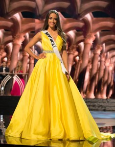 Kyle Hornback, Miss Kentucky USA competes during the evening gown competition at Miss USA 2016 preliminary show