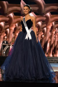Kate Redeker Miss Wisconsin USA competes during the evening gown competition at Miss USA 2016 preliminary show