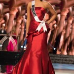 Autumn Olson,Miss Wyoming USA competes during the evening gown competition at Miss USA 2016 preliminary show