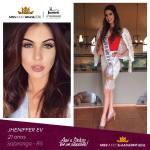 Jheniffer Ev is representing ilha da PINTADA - RS at Miss Mundo Brasil 2016