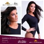 Gabriela Oliveira Fruhauf is representing ilha dos LOBOS - RS at Miss Mundo Brasil 2016