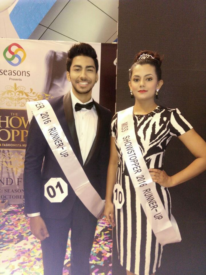 Priyanka Kumari and Akshay Jain wins 'The Show Stopper 2016' by Seasons Mall