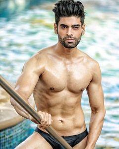 Bharat Sainani during Mr.India 2016 Bare Body Photo Shoot