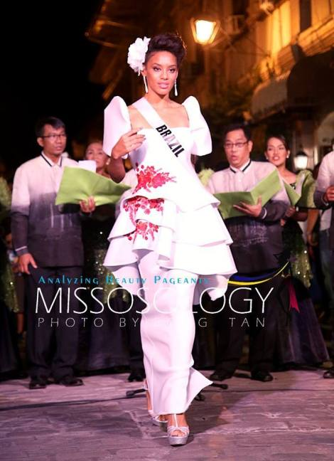Miss Brazil-Raissa Santana during terno fashion show