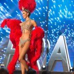 Miss France ,Iris Mittenaere during Miss Universe 2016 National Costume presentation