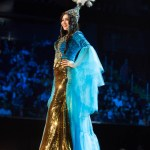 Miss Kazakhstan,Darina Kulsitova during Miss Universe 2016 National Costume presentation