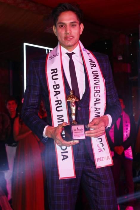 Rohit Jakhar from Haryana is Rubaru Mister India Universal Ambassador 2017