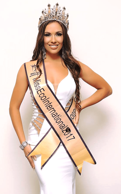 Amber Bernachi of Canada wins Miss Eco International 2017