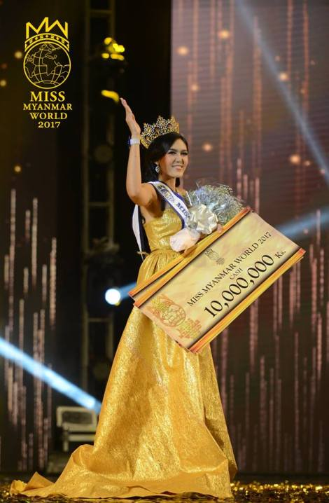 Ei Kyawt Khaing is Miss Myanmar World 2017