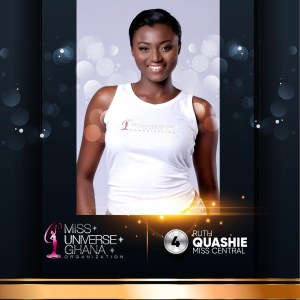 Ruth Quashie is representing Central region at Miss Universe Ghana 2017