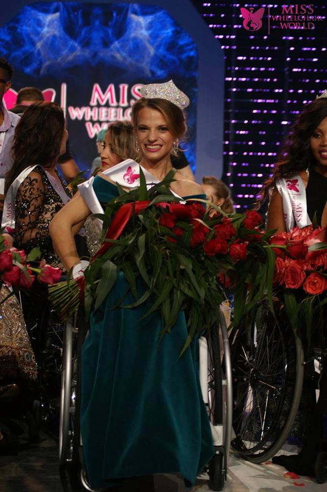 Aleksandra Chichikova of Belarus is Miss Wheelchair World 2017