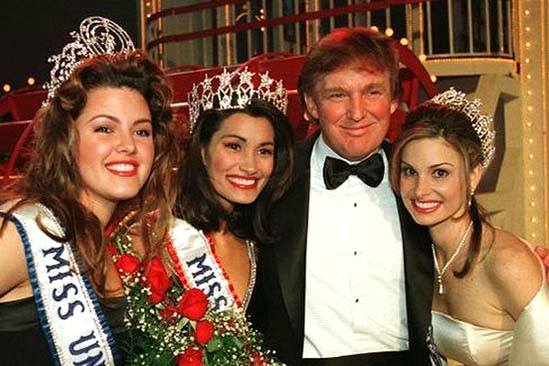 Trump's history of Sexual Misconduct at pageants.