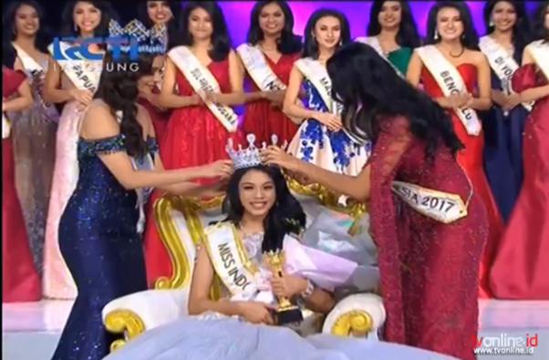 Alya Nurshabrina from Jawa Barat wins Miss Indonesia 2018.