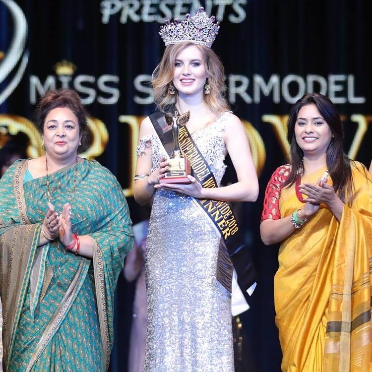 Aleksandra Liashkova from Belarus crowned as Miss Supermodel Worldwide 2018