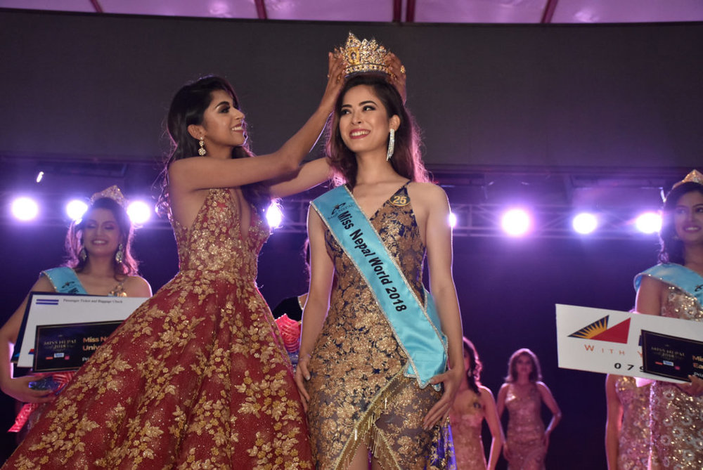 Shrinkhala Khatiwada crowned as Miss World Nepal 2018