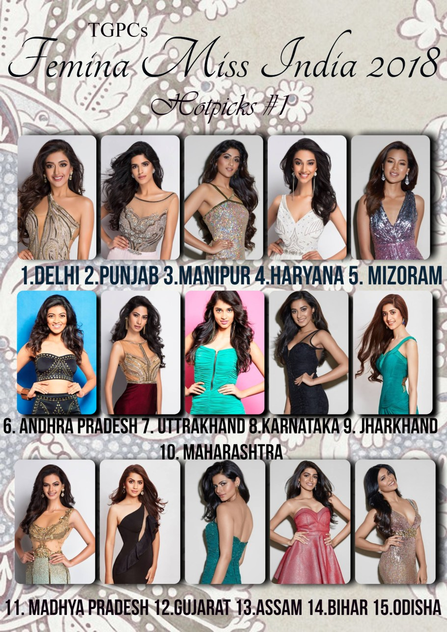 Femina Miss India 2018 First Hotpicks