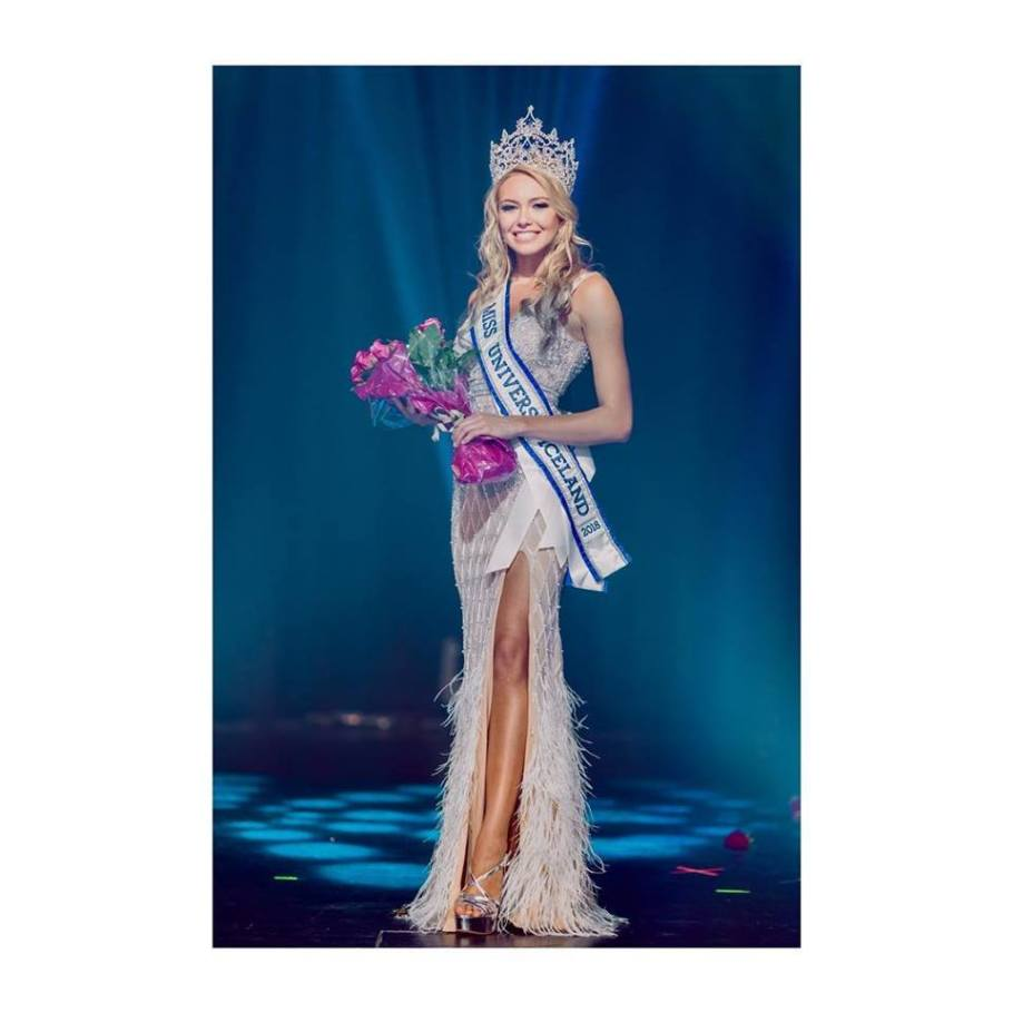 Katrin Lea Elenudottir crowned Miss Universe Iceland 2018