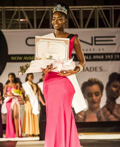Melba Shakabozha was crowned as Miss Universe Zambia 2018