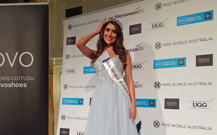 Taylah Cannon crowned as Miss World Australia 2018