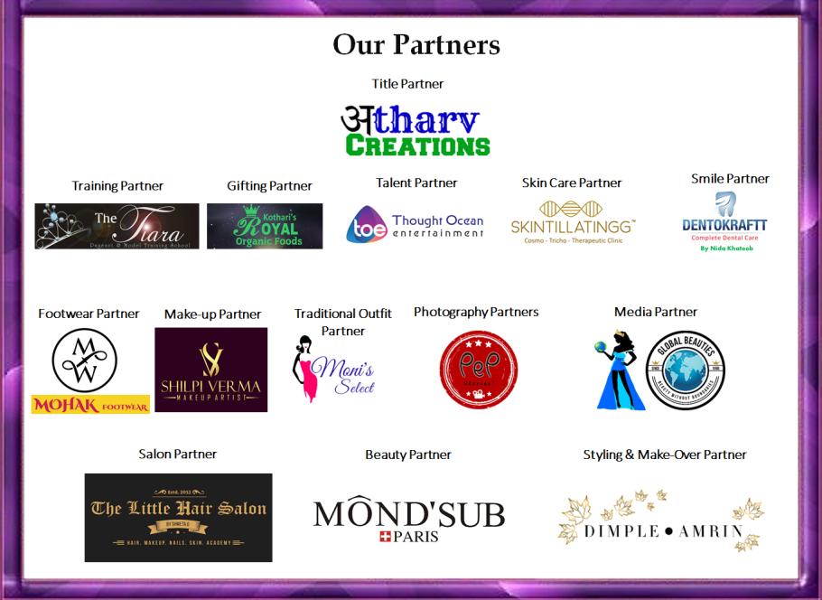 TGPC's Miss India Season-5 Sponsors