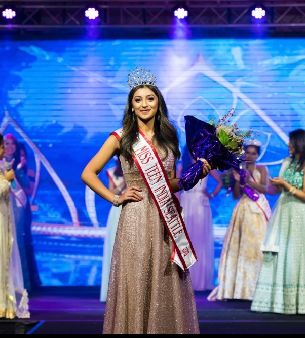 Shifa Mohammad crowned Miss Teen India Seattle USA 2018