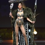 Miss Universe Chile,Andrea Díaz during the national costume presentation