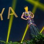Miss Universe Kenya,Wabaiya Kariuki during the national costume presentation