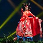 Miss Universe Korea,Ji Hyun Baek during the national costume presentation