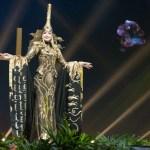 Miss Universe Mongolia,Dolgion Delgerjav during the national costume presentation