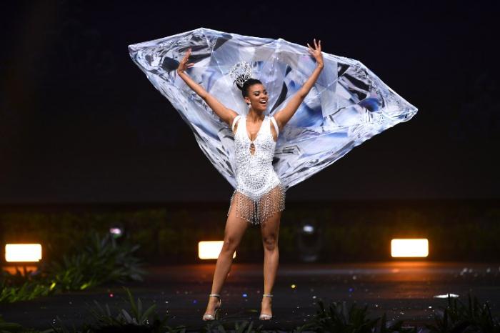 Miss Universe Namibia-Selma Kamanya during the national costume presentation