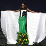 Miss Universe Nigeria,Aramide Lopez during the national costume presentation