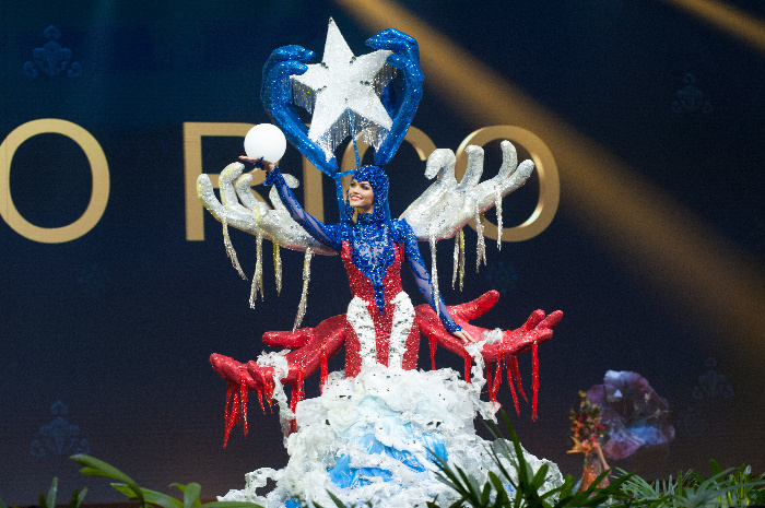 Miss Universe Puerto Rico,Kiara Ortega during the national costume presentation