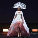 Miss Universe Saint Lucia,Angella Dalsou during the national costume presentation