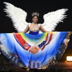 Miss Universe Singapore,Zahra Khanum during the national costume presentation