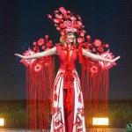 Miss Universe Ukraine,Karyna Zhosan during the national costume presentation