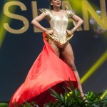 Miss Universe US Virgin Islands,Aniska Tonge during the national costume presentation