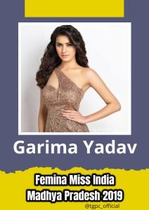 Garima Yadav will represent Madhya Pradesh at Femina Miss India 2019