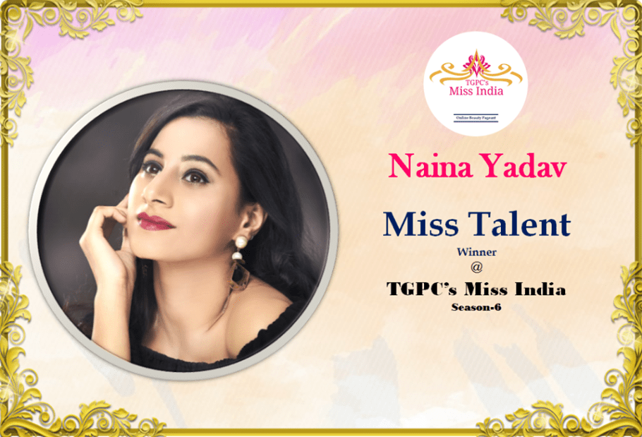 Naina Yadav Miss Talent