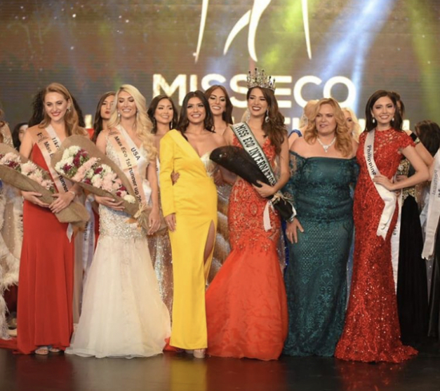 Suheyn Cipriani from Peru crowned as Miss Eco International 2019