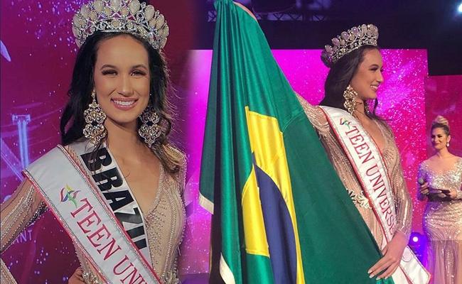 Eduarda Zanella from Brazil wins Miss Teen Universe 2019