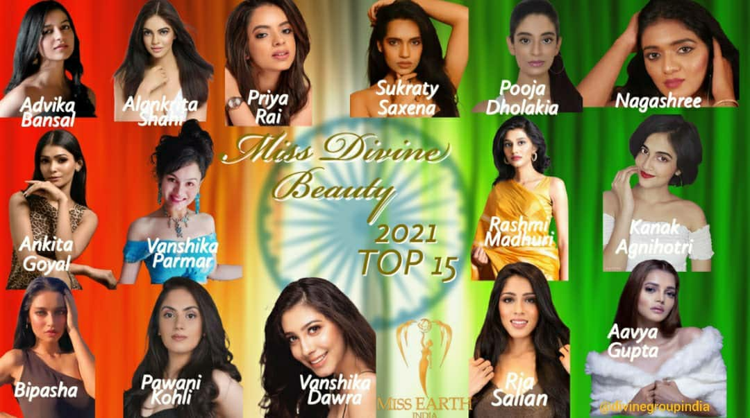 Meet the Top 15 of Miss Divine Beauty 2021-Miss Earth India