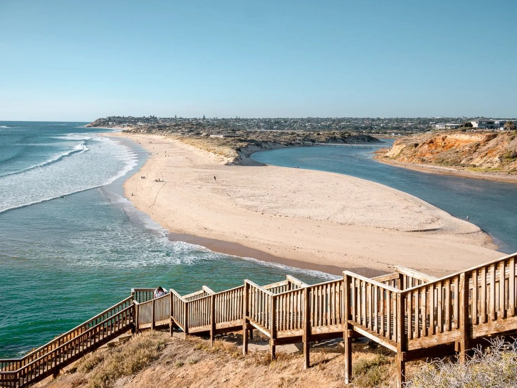 Port Noarlunga Boardwalk & River mouth