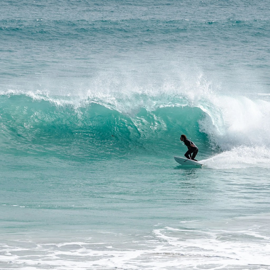 Surfer at Pondalowie Bay - Innes National Park